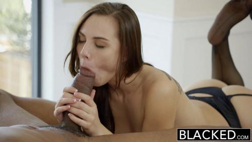 Sexy Babe Takes His Big Cock Interracial