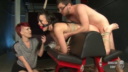 Tight restraint bondage, punishment and spanking for hot nude bitch