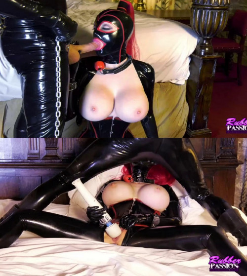 Tight bondage, domination and torture for hot girl in latex