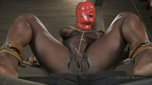 Tight restraint bondage, domination and pain for stripped angel