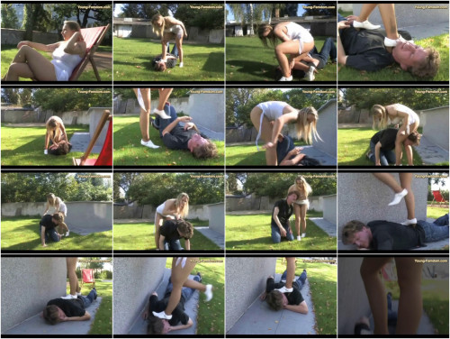 Young-femdom – Carina and the gardener