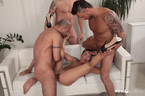 Three Horny Cocks for Gemella - FullHD 1080p Sex Orgy