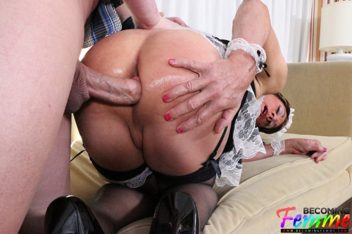 Mature Sissy French Maid Gets Fucked Shemale