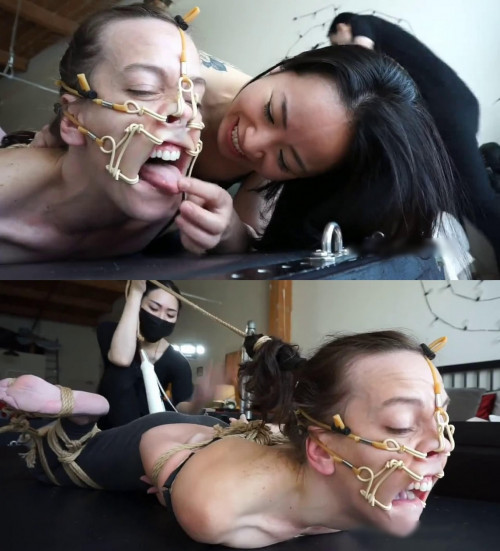Bondage, domination, hogtie and torture for very sexy girl BDSM
