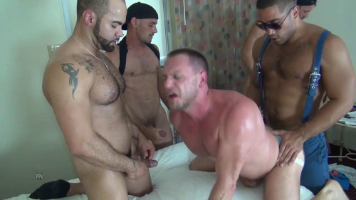 Raw Fuck Club - Hans Berlin Gets Gang Banged Gay Clips