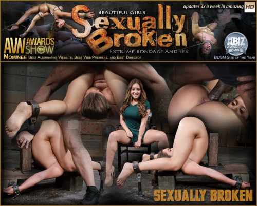 SexuallyBroken - Mar 02, 2016 - Big breasted Jean Michaels folded in half in strict piledriver