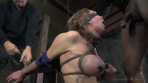 Big breasted blonde Rain DeGrey brutally deep throated - HD 720p BDSM
