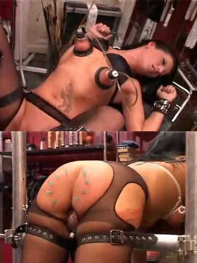 Girl in a hellish BDSM