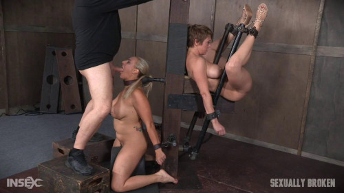 Tied Back to Back And For Mouth and Anal Use-rough bdsm porn