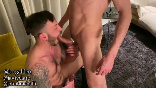 Threesome Hardcore Bareback - Part 2 - John Brachalli