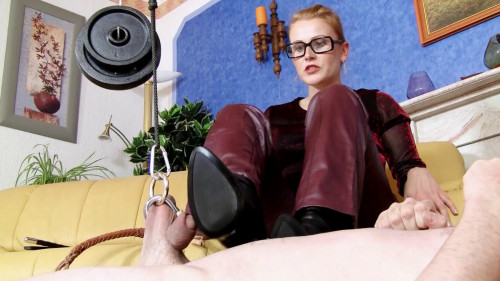 Cruel women in high heels - Cock torture of Mistress Victoria