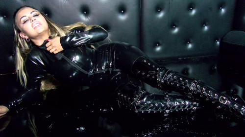 Danni Levy - Black Latex Catsuit Tease Erotic Video