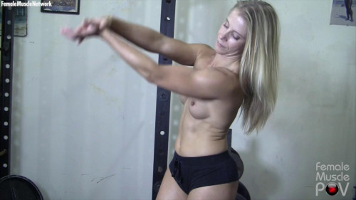 Claire - She's Nude. And You're Seeing Her From the Pov Of Her Muscle Worshiper Female Muscle