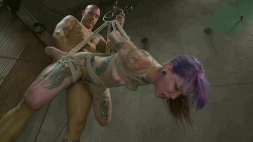 Derrick Pierce, Krysta Kaos-Young, tattooed slut gets fucked in all of her holes
