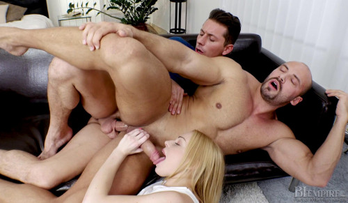 Muscle Man & His Girlfriend Fucked By Young Guy