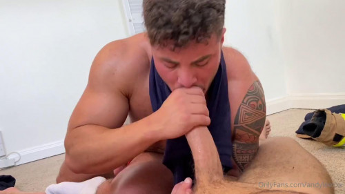 Andy Lee acquires his pecker sucked and drained