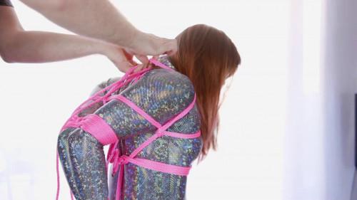 Sparkly Bodysuit Hogtie Fail BDSM