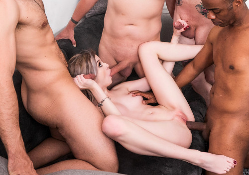 Lexi Lore - DPed and Gangbanged (2019) Interracial