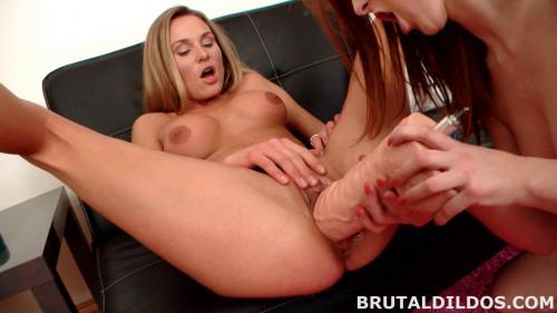 BrutalDildos Linda Sweet And Laura Crystal Fisting and Dildo