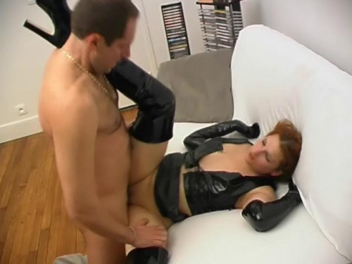 Butt-fucked in latex Anal Sex
