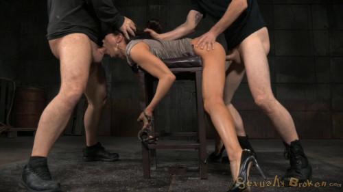 Kalina Ryus first bondage shoot, brutal fucking