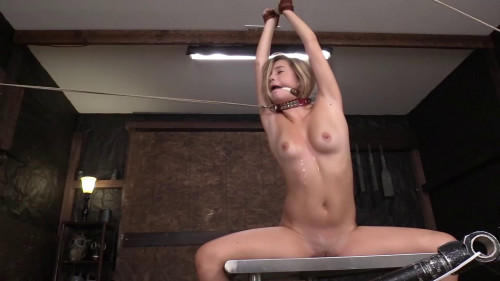 Tied standing up with a spreader