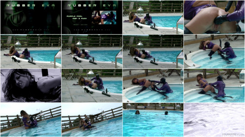 Purple Rubber Pool Fuckers - Part 7 - Full HD 1080p BDSM Latex