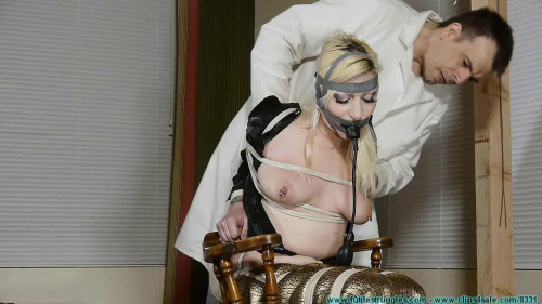 Olivia Rose Hogtied and Pump Gagged Tight part 1 - Extreme, Bondage, Caning