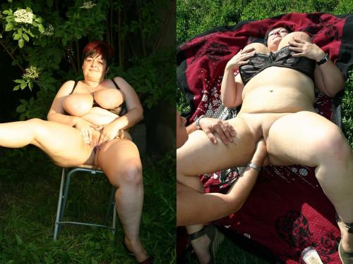 Big tits MILF: fisting at the ranch