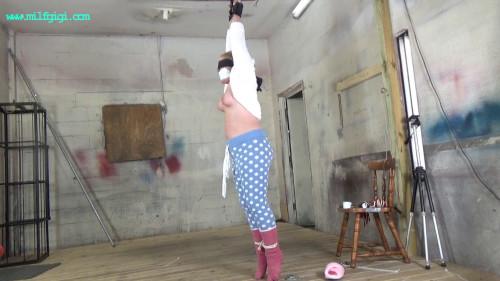Brutal Wrist Suspension In Her Pajamas