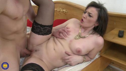 Jara C - horny housewife doing her toyboy FullHD 1080p Mature, MILF