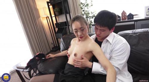 Miho Wakabayashi - Creampieing my Japanese large nippled principal 1080p