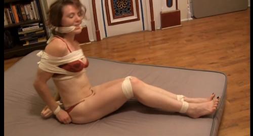 Bondage Escape Challenge: Cloth Ties & Gag BDSM