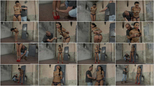 Daphne Klyde Slapped and Rope Tied BDSM