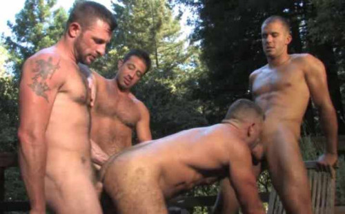 Outdoor Fuck WIth Hot Gangbang
