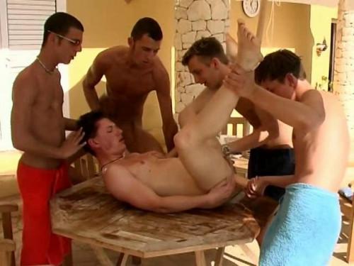 Raw Oil Gang Bang Gay Movie
