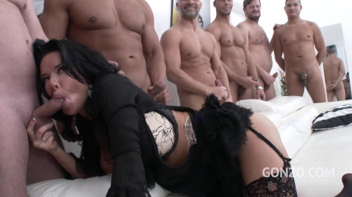 Veronica Avluv Likes Double Anal Gangbang Sex Orgy