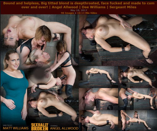 SB - May 10, 2017 - Bound and helpless, Big titted blond is deepthroated, face fucked