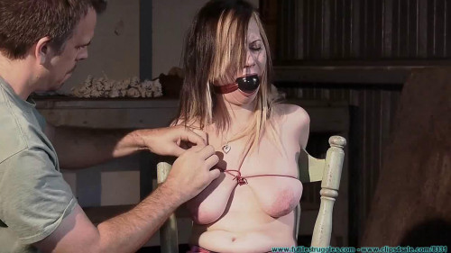 Lexi Kneels and Begs for Tit Torture and Gets It 1 part