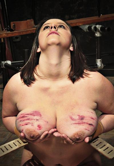 Office torture for boobs