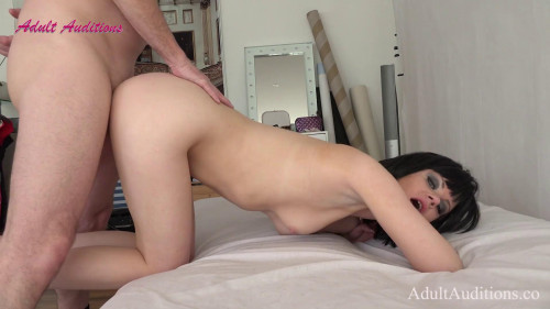 April Air Stewardess Audition - She gets creampied