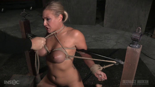 SexuallyBroken Fast paced Angel Allwood BaRS show with breast bondage