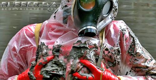 Heavy Hazmat Sploshing - Part 2 - Full HD 1080p BDSM Latex