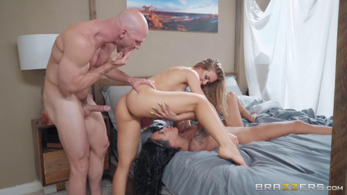 Amia Miley, Nicole Aniston & Johnny Sins - Sharing Her Side Piece Threesome