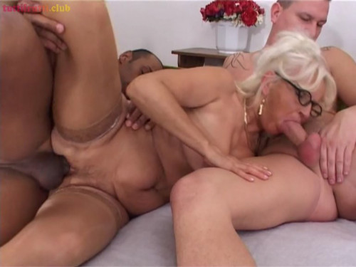 Blonde euro Granny castinged by BBC Tony Mature, MILF