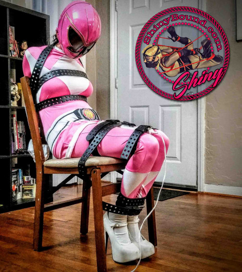 SBound - Raquel Roper.. Pink Power Ranger Strapped and Drained BDSM
