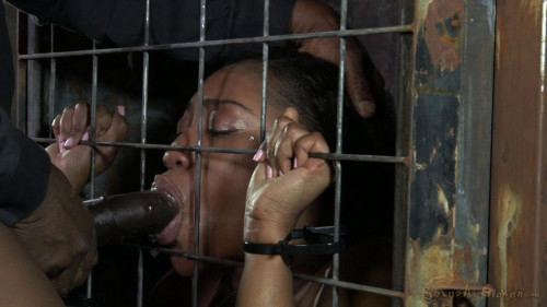 Cocksucker Chanell Heart caged and used BDSM