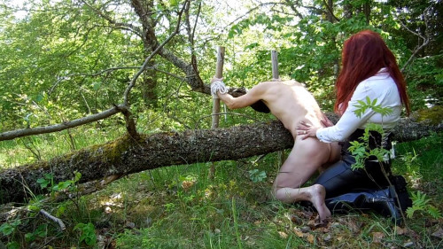 Forest Fuck Femdom and Strapon