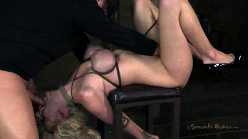 Courtney Taylor, bound, manhandled