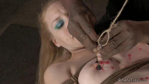 Delirious Hunter Blondie in Restraint bondage